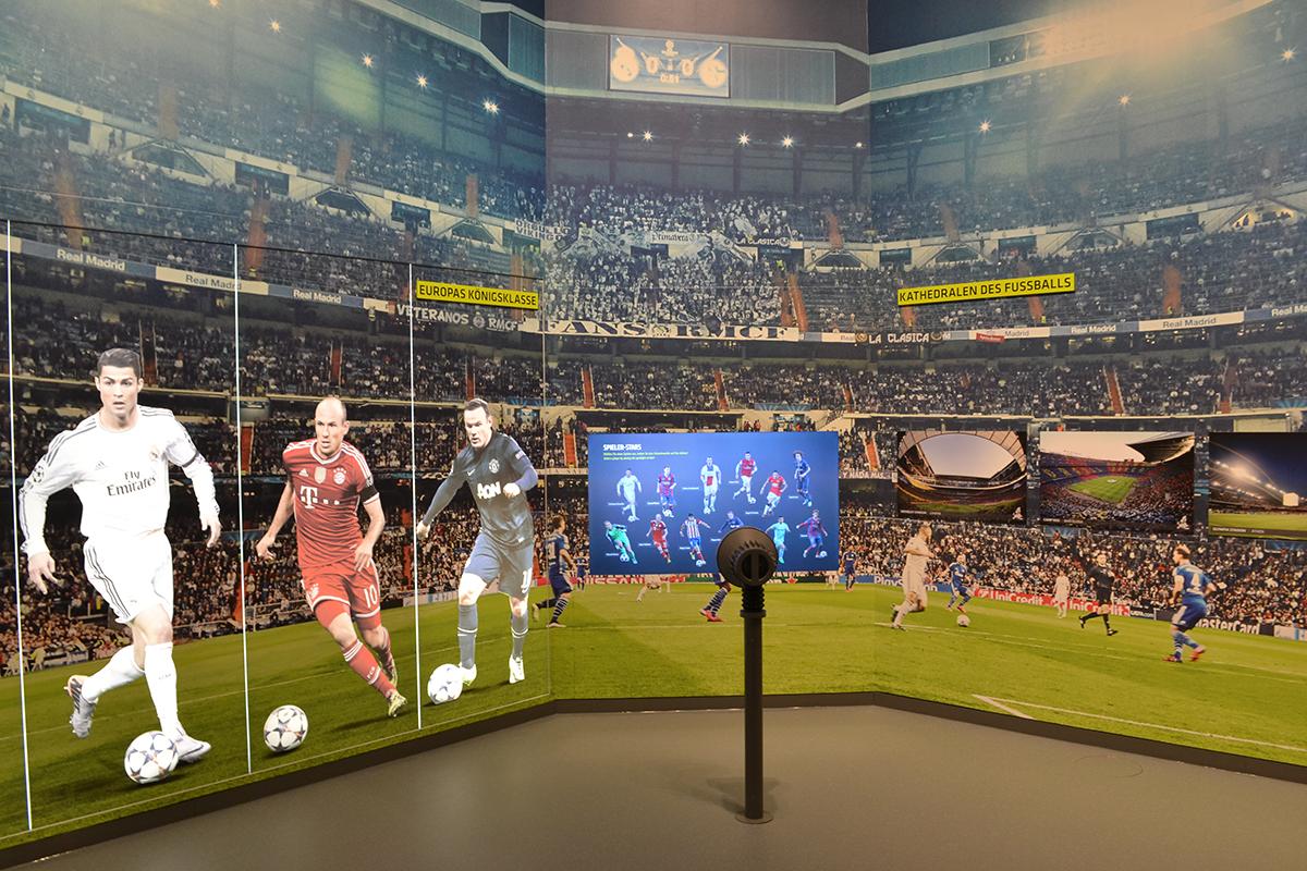 Interaktives Exponat Fussballmuseum